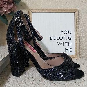 Betsey Johnson Heels - Black Sparkle